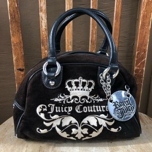 Juicy Couture Brown Suede Tote